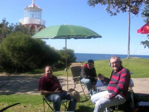 Raffy, Daniel and Brad at Hornby Lighthouse, South Head.