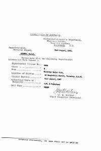 VK2BV License 1946